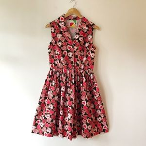 ModCloth Fervour Heart Cookie Fit and Flare Dress